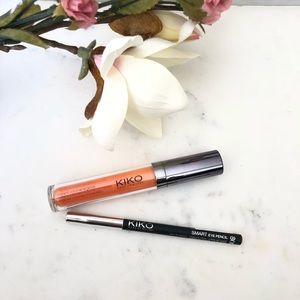 Kiko Extra Volume Lipgloss & Champagne eye pencil